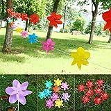 ECMQS 10PCS 26ft Seil Leuchtende Windmühle String Kinder Spielzeug, Garten Ornamente Bunte Freien Wind Spinner