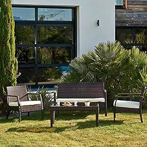 Luxus Polyrattan Gartenmöbel TRIBECA, 4-Sitzer
