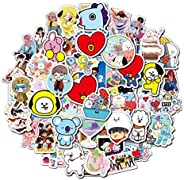 New BT21 Graffiti Stickers 110 Non-repeating Trend Car Skateboard Waterproof Stickers BTS