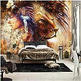 Mgdtt Erstaunliche Tier Tiger Benutzerdefinierte Foto Leinwand Tapeten Wandbild Hintergrund Tapete Wohnzimmer Schlafzimmer Wohnkultur-250X175Cm