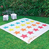 2 In 1 Giant Snakes and Ladders / Tangled Twister Outdoor Garden Game by Parkland