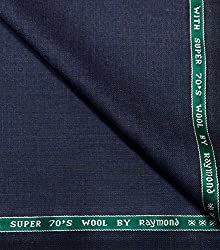 Raymond Super 70s Wool Navy Blue Unstitched Suit Fabric -By look and like.