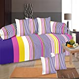 #8: Diwan Set Of 8 Pieces by GDH, Striped Design