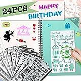 Schablonen Bullet Journal Zeichenschablonen Kinder für Scrapbooking,24 Stück