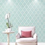 Reyqing Modernes, Minimalistisches Vliestapeten, 3D-Schlafzimmer, Wohnzimmer Hintergrundbild, Hellblau, Wallpaper Nur