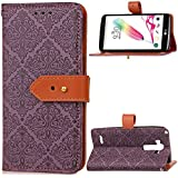 LG G4 Stylus Case,Pouches Anti-Scratch Premium PU Leather Wallet Case Anti-Scratch With Kickstand And Credit Card Slot Cash Holder Flip Case Compatible With LG G4 Stylus Purple