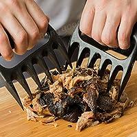 Bazaar 2pcs Black Bear Paw Meat Claws Zange ziehen Shred Meat Handle Über BBQ Werkzeug