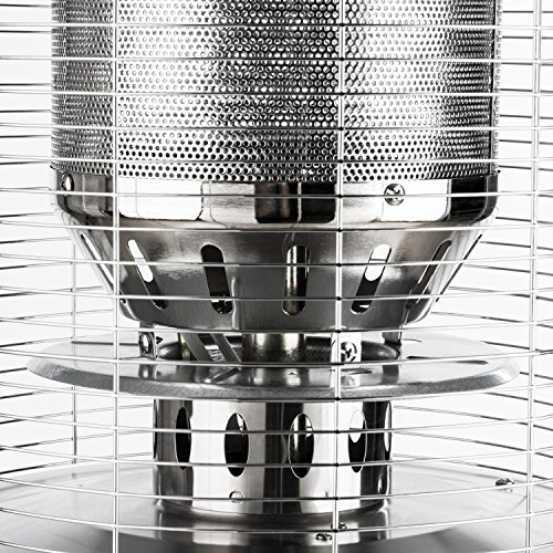 Blumfeldt Heatwave V2V • Terrassenheizstrahler • Gasheizstrahler • 2 Heizstufen: 5000 oder 11000 Watt • Propan- oder Butangasbetrieb • Gasflasche: max. 11 kg • Piezozündung • Kippsicherung • Stahlgehäuse • Transportrollen • witterungsbeständig • silber; - 5