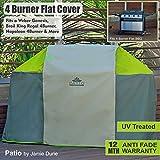 PATIO - Premium BBQ Large Universal Waterproof, UV & Fade Proof Cover - 4 Burner, Charcoal, gas BBQ