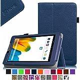Fintie Odys Connect 7 Pro / Connect 7 Hülle Case - Slim Fit Folio Premium Kunstleder Schutzhülle Cover Tasche mit Ständerfunktion für Odys Connect 7 Pro / Odys Connect 7 17,8 cm (7 Zoll) Tablet-PC, Marineblau