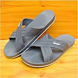 BAOZIV587 Domicile de plein air chaussons Pantoufles d'été couple de grandes tailles sandales et pantoufles 47 48 yards chaussures pantoufles pour hommes pantoufles légers et insipides, 42 conviennent pour 41 pieds, gris-8