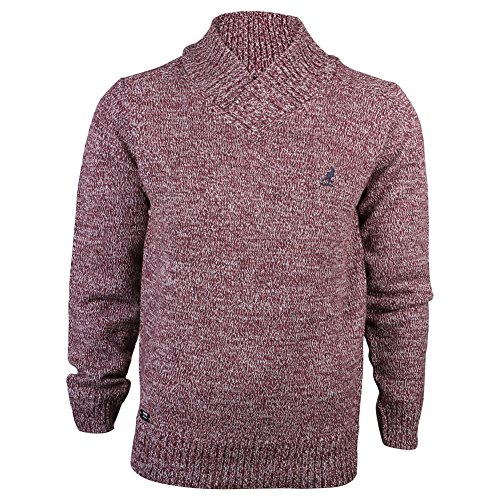 mens-kangol-port-kinley-ribbed-v-roll-neck-tone-knitted-jumper-knit-top-size-m