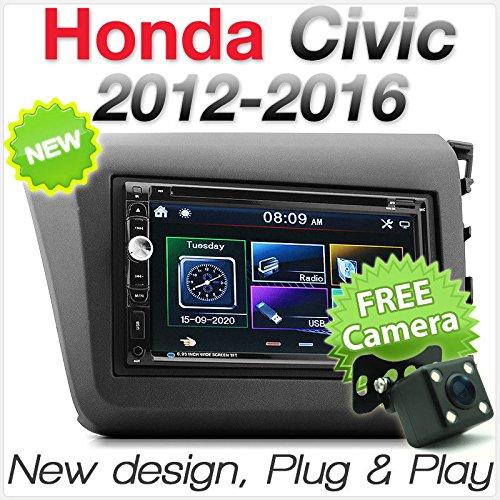 Honda Civic EP2 EP3 2001-2006 CD Double Din Panneau Fascia Argent Kit Complet