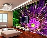 Wapel Custom 3D Foto Wandbild Tapeten Wunderschöne Effekte Abstrakte Blume Das Moderne Europa Wandbild 3D Wohnzimmer Tapete Wandbild Seidenstoff 400x280CM