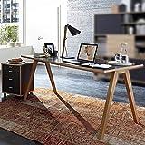 Büromöbel 160cm Schreibtisch & Container Set BILLUND-01 anthrazit, Sonoma-Eiche-Nb.