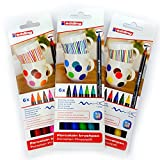 EDDING 4200 PORCELAINE BRUSHPEN FOUR BAKE MARQUEURS ASSORTIS (3 SÉRIES)
