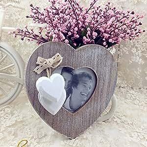 Cadre en bois photo Coeur, d'amour, mariage