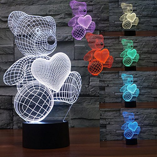Slook 3D Optical Illusion Orso Amore serie,