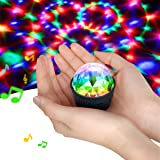 Mini Disco Licht, Disdarkday Geluid Geactiveerde Multi-Color Batterij Operated Disco Ball Light, Festival Party Light, LED Po