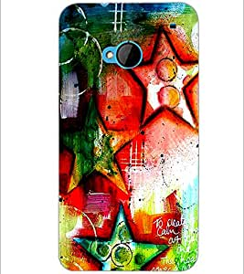 PrintDhaba Art Hub D-1244 Back Case Cover for HTC ONE M7 (Multi-Coloured)