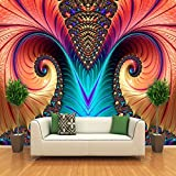 BIZIX Foto murali Personalizzate Carta da Parati Non tessute 3D Art Abstract Pattern Colore Carving Living Room TV Sfondo Wall Decor Wallpapers