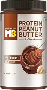 MuscleBlaze High Protein Peanut Butter,750g (Dark Chocolate) (Dark Chocolate, 750g)