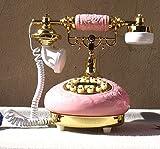 Antike continental pastorale kreative Keramik Festnetztelefon rosa