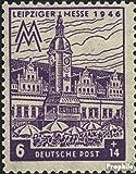 Sowjetische Zone (All.Bes.) 162VIII, linke Turmuhr beschädigt (Feld 17) postfrisch 1948 Leipziger Messe (Briefmarken für Sammler)