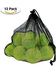 Philonext 12 Pcs Palline da tennis, pacchetti Sport palla di gioco del cane di cricket con sacchetto di trasporto della maglia, divertimento all'aperto spiaggia di svago istruzione del cane