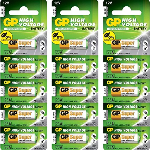 GP 23AE Ultra 23 A 12 V High Voltage Alkaline-Batterie (15-Stück) Gp Ultra Alkaline Batterie
