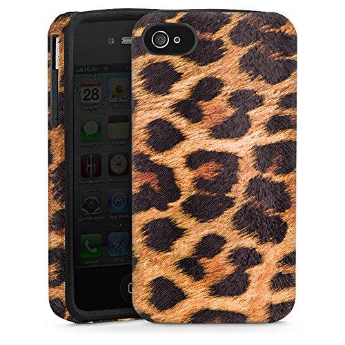 Apple iPhone 4 Hülle Tough Case Schutzhülle Leopard Pattern Muster (Leopard-druck Iphone 4 Case)