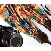 Schal Kameragurt mit Blumen. DSLR/SLR Kamera Gurt. Kamera Zubehör. Colorful Kameragurt. Tolles Geschenk von der intepro. Code 00288
