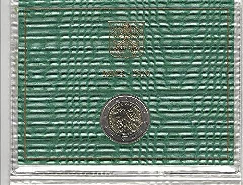 Piece 2 Euros Vatican - 'Vatican 2010Officiel sous blister avec 2Euros pièce