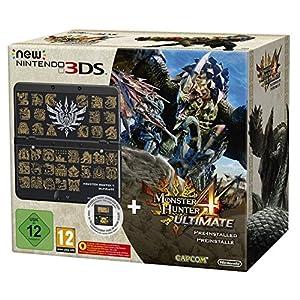 New Nintendo 3DS schwarz inkl. Monster Hunter 4 Ultimate + Zierblende
