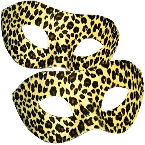 German Trendseller Leoparden Stoff Maske ┃ Theater ┃ Karneval / Fasching ┃ Venezianische Damen Maske Deluxe
