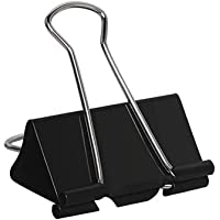 Extra Large Binder Clips 2 inch Jumbo Binder Clips 24 Pack Big Metal Paper Clamps Black (2 Inch)
