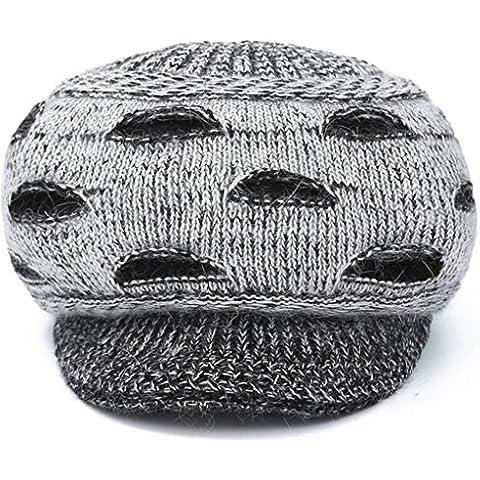 XZWZ Inverno signore capelli cappello coniglio maglia di modo più