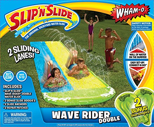 Wave Rider Double; Twice the fun of the regular Wave Rider, and comes with 2 boogie boards.