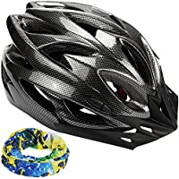 zacro Light Weight Cycle Helmet for Bike Riding Safety - Adult Bike Helmet with Detachable Visor and Liner in Medium Size (54-62cm) with Sports headband