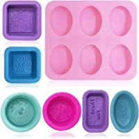 FineGood 13 pcs silicone ovale moules pour la fabrication de savon, silicone savon moules bougie faisant Cupcake Muffin…