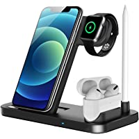 LECHLY Kabelloses Ladegerät, 4 in 1 Induktive ladestation für Apple Watch, Airpods Pro, iPhone 12/SE/11/X/XR/Xs Max/8…