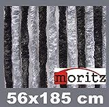 Moritz® Chenille Flauschvorhang Fliegenschutz 56 x 185 cm NEU 14 Stränge (dunkelgrau / grau)