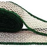 corte de trabajo de artesanía ajuste verde 6,8 cm de ancho bordadas cinta por la yarda