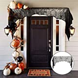 bennyuesdfd Halloween Türvorhang Deko Tür mit Spinnennetz Vorhang für Halloween Kamin Tür Tisch Fenster Dekoration (225x90 cm)