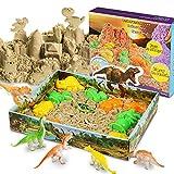 Magicfun 3D Sand Set Beinhaltet 500g natürlichen Indoor Spielsand, 10 Dinosaurier Förmchen, 1...