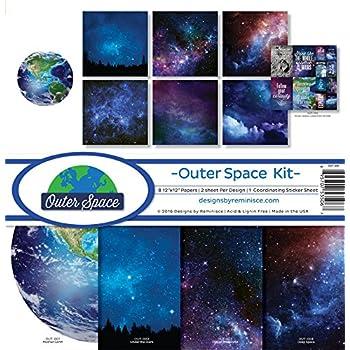 Designpapier Weltall Ufo 25 Blatt//DIN A4 90 g-Offsetpapier
