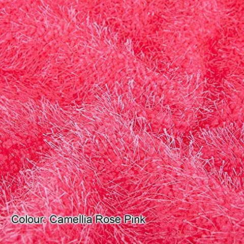 Neotrims Baby Soft Snarl Loops Pile Texture Jersey Fabric. For Apparel, Photography and Crafts, Cuddly Blanket Throws Material. Camellia Rose Pink-1 meter