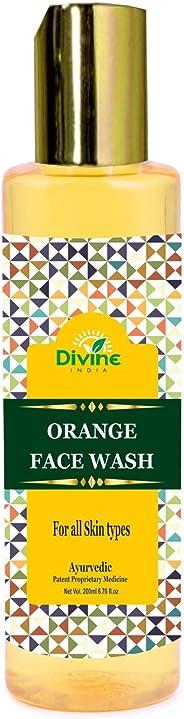 Divine India Orange Face Wash, 200ml