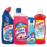 #6: Harpic Powerplus Original - 1 L with Lizol Disinfectant Floor Cleaner - 975 ml (Floral), Colin Regular Trigger - 500 ml and Harpic Bathroom Cleaner - 1 L (Lemon)