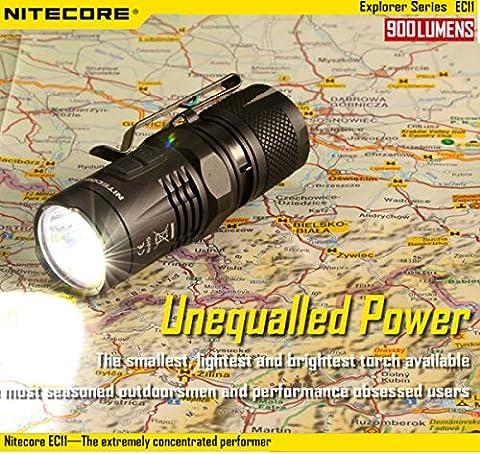 [Livraison Gratuite 7-12 jours] Nitecore EC11 xm-I2 (u2) 900lm 18350 edc LED lampe de poche BML®
